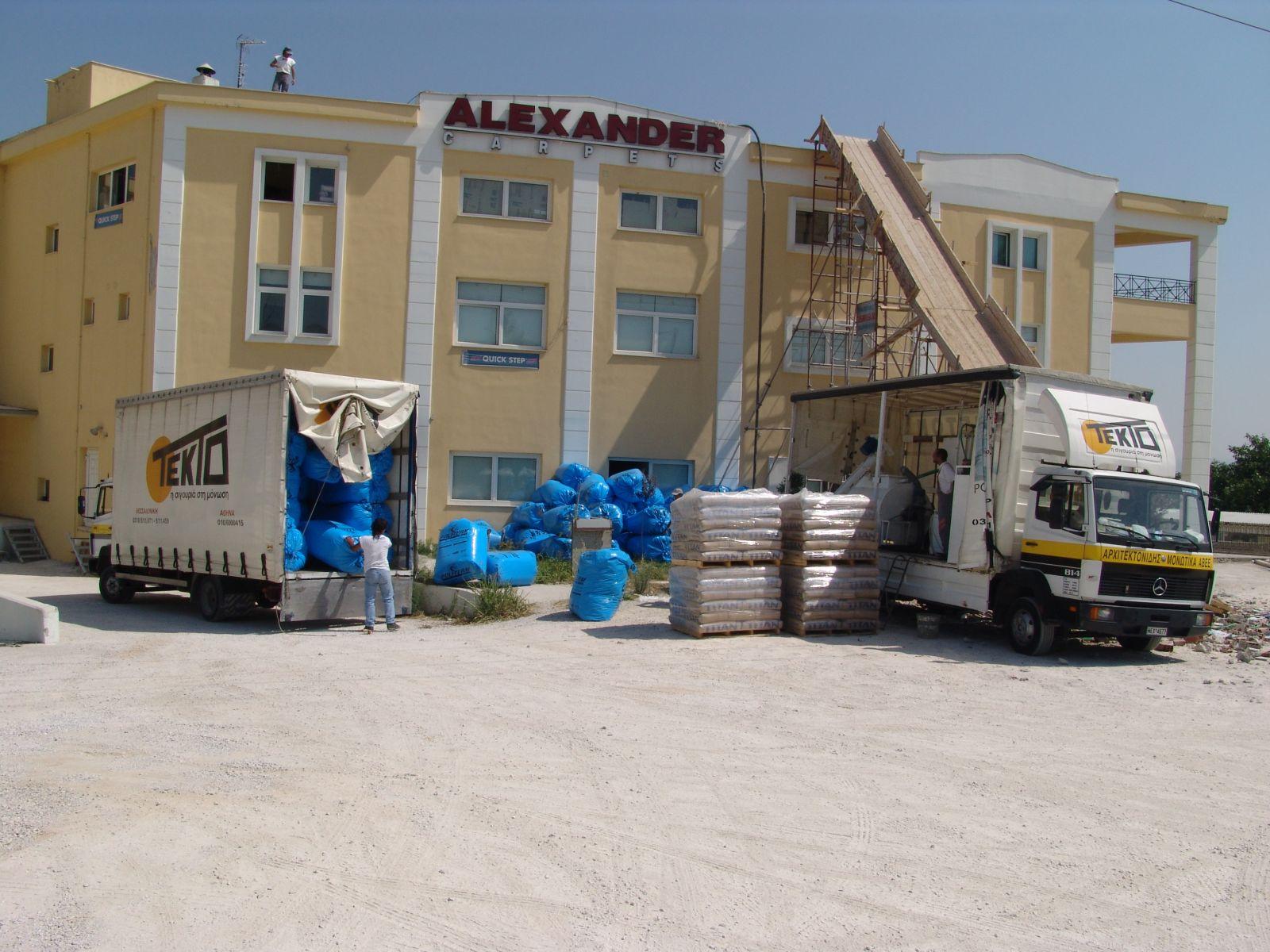 Θερμομόνωση δώματος με το Politerm Blu βιοτεχνικού κτηρίου στα Λαγυνά Θεσσαλονίκης επιφάνειας 1.000sqm