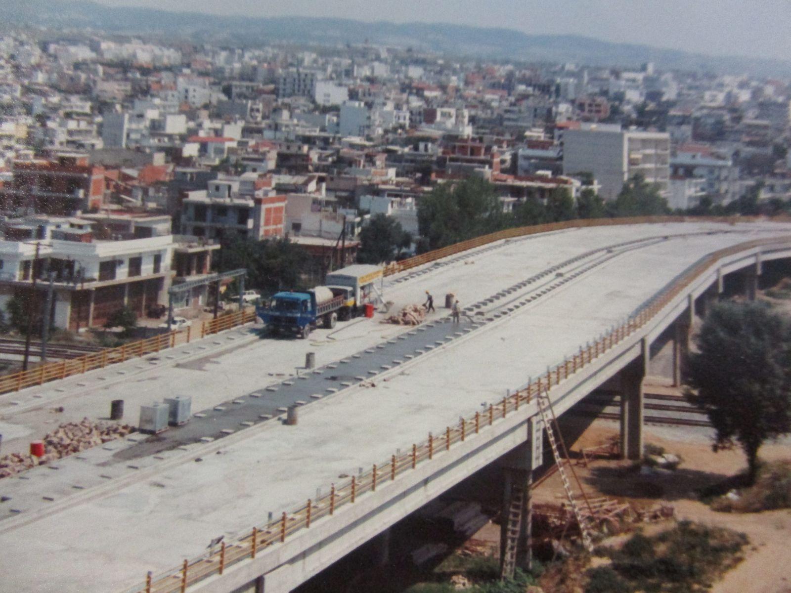 Ελαφροσκυρόδεμα στην γέφυρα Λεωφόρο Δενδροποτάμου στην Θεσσαλονίκη σε ποσότητα 1.000 κυβικά