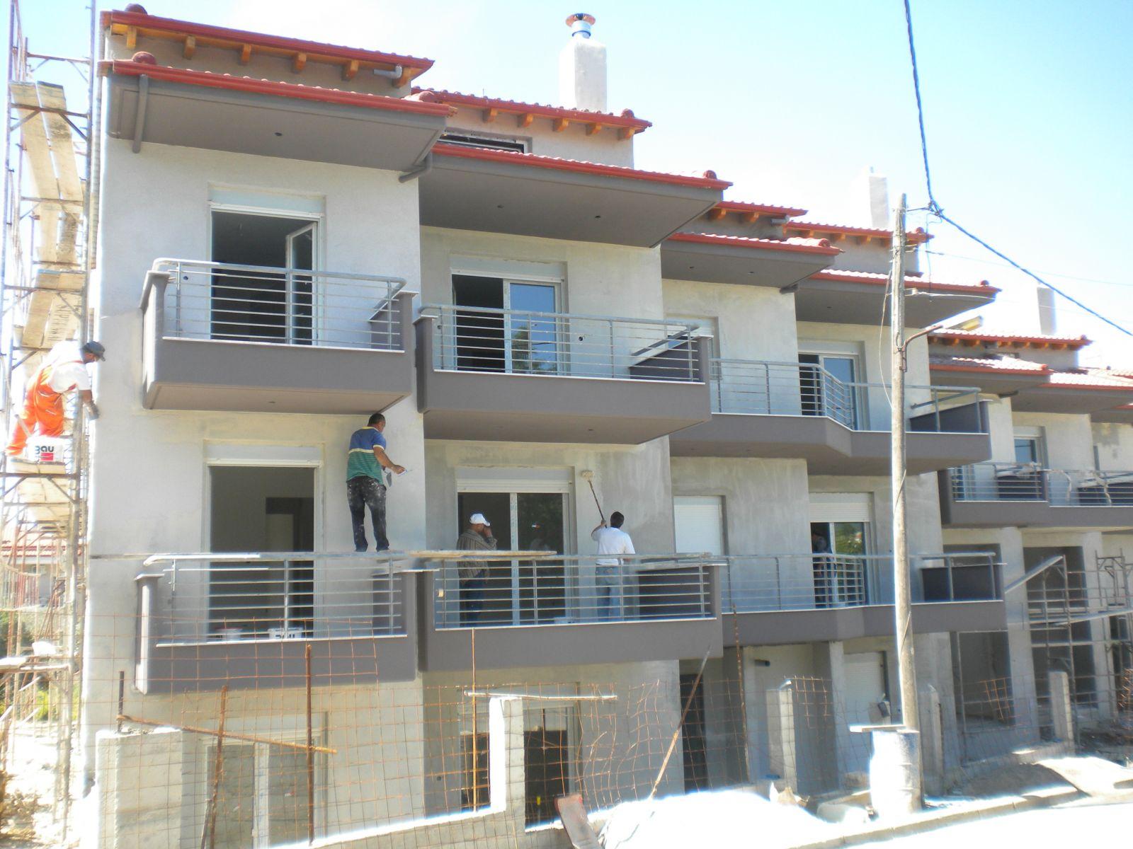Εξωτερική θερμοπρόσοψη με θερμοσοβά Tektoterm σε συκγρότημα κατοικιών στην Ν. Ευκαρπία-Θεσσαλονίκης επιφάνειας 4.0000sqm