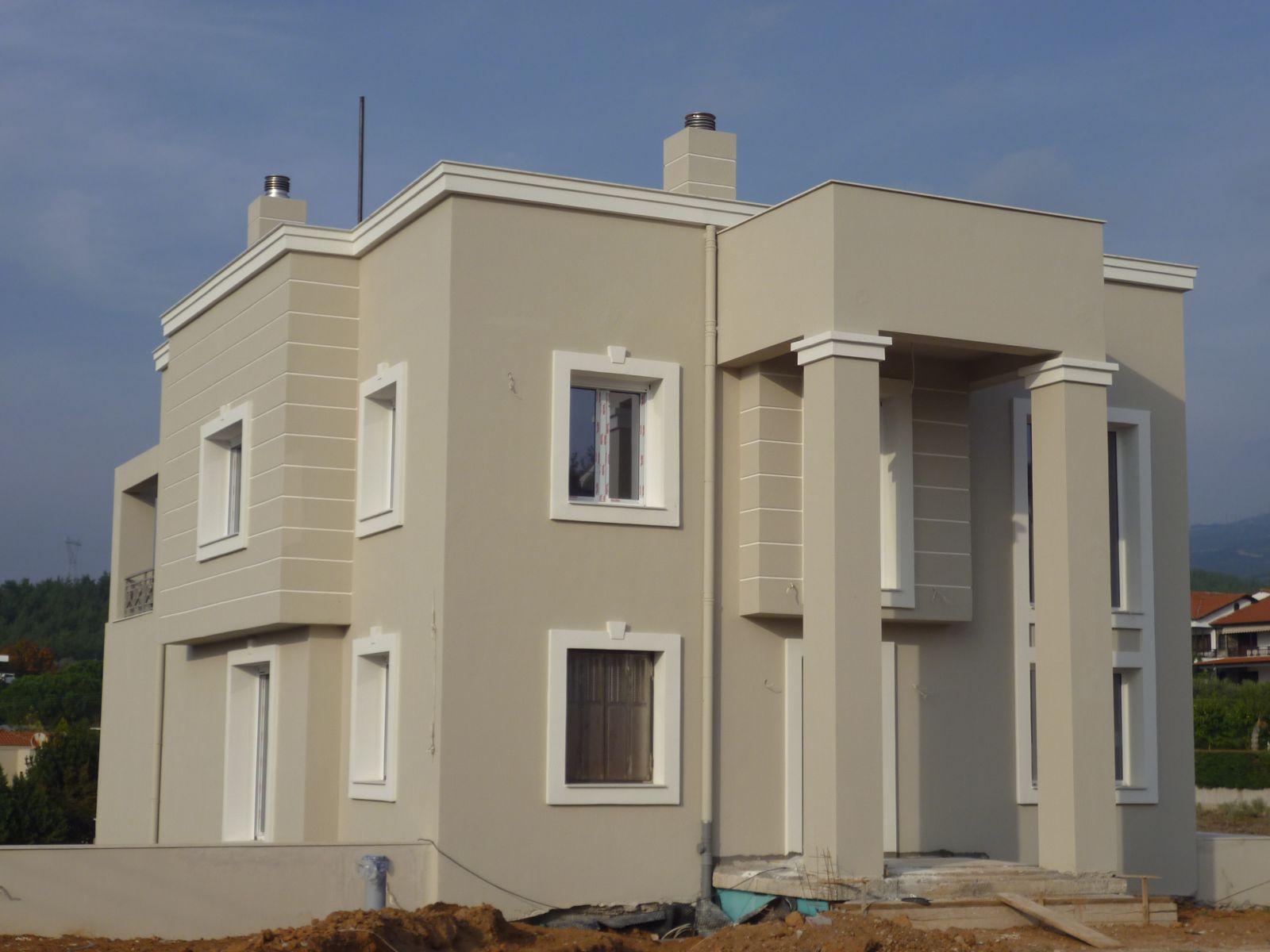 Εξωτερική θερμοπρόσοψη με θερμοσοβά Tektoterm σε ιδιωτική κατοικία στην Θέρμη-Θεσσαλονίκη - External thermal insulation in Thermi Thessalonikis