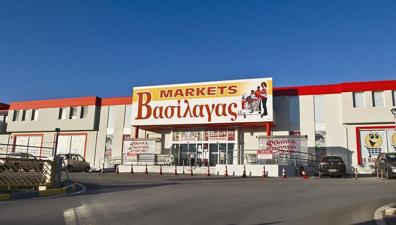 Θερμομόνωση δώματος με το Politerm Blu στο market Βασίλαγας στο Ν. Μεσημέρι Χαλκιδικής επιφάνειας 1.000sqm